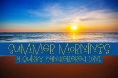 Web Font Summer Mornings - A Quirky Handlettered Font Product Image 1