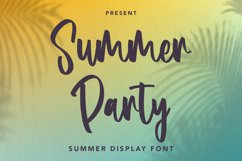 Summer Party - Summer Display Font Product Image 1