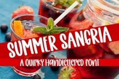 Web Font Summer Sangria - A Quirky Handlettered Font Product Image 1