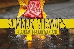 Web Font Summer Showers - A Quirky Handlettered Font Product Image 1