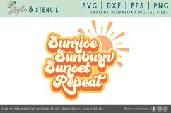 sunrise sunburn sunset repeat summer svg