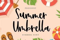 Web Font Summer Umbrella - Summer Font Product Image 1