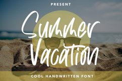 Summer Vacation - Cool Handwritten Product Image 1