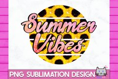 SUMMER Sublimation Summer vibes PNG Retro Summer Sublimation Product Image 1