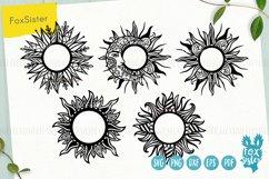 Sun monogram svg bundle, Svg Png Pdf Eps Dxf, celestial svg Product Image 1