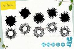 Sun monogram svg bundle, Svg Png Pdf Eps Dxf, celestial svg Product Image 2