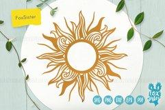Sun monogram svg bundle, Svg Png Pdf Eps Dxf, celestial svg Product Image 4