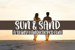 Web Font Sun & Sand - A Quirky Handlettered Font Product Image 1