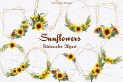 Sunflower Watercolor Frames Product Image 1