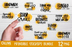 Packaging and Small Business Sunflowers Sticker Bundle PNG Product Image 1