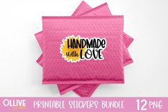Packaging and Small Business Sunflowers Sticker Bundle PNG Product Image 2