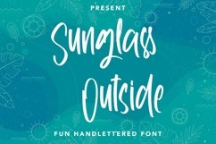 Web Font Sunglass Outside - Handlettered Font Product Image 1