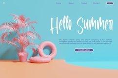 Web Font Sunglass Outside - Handlettered Font Product Image 2
