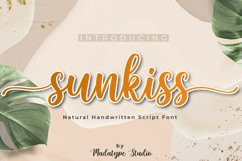 Sunkiss | A Beautiful Script Font Product Image 1