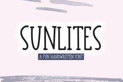 Web Font Sunlites - A Fun Handwritten Font Product Image 1