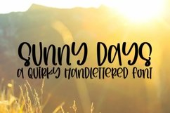 Web Font Sunny Days - A Quirky Handlettered Font Product Image 1