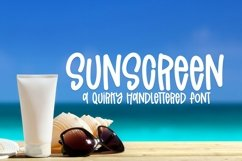 Web Font Sunscreen - A Quirky Handlettered Font Product Image 1