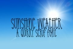 Web Font Sunshine Weather - A Quirky Serif Font Product Image 1