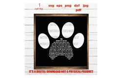 Paw Print SVG, the moment you left me svg, Dog Lover, Product Image 1