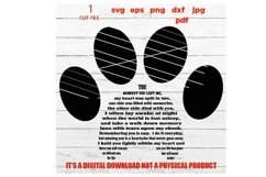 Paw Print SVG, the moment you left me svg, Dog Lover, Product Image 3