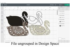 Swan Mandala 4 Layered 3D Design SVG Paper Cutting Product Image 2