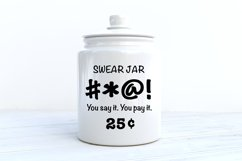 Swear jar you say it you pay it SVG|DXF Cut File Product Image 1