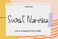 Web Font Sweet Naressa - Cute Handletter Font Product Image 1