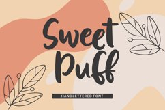Sweet Puff - Handlettered Font Product Image 1