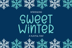 Sweet Winter - A Playful Font Product Image 1