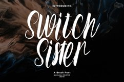 Switch Sister Brush Font Product Image 1