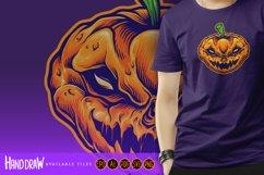 Halloween Skull Monster Carved Mascot Product Image 2