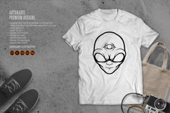 Alien Head Simple Silhouette Product Image 3
