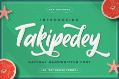 Takipedey - Handwritten Script Font Product Image 1