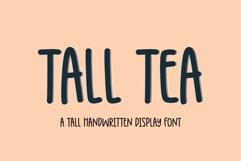 Tall Tea - a tall skinny handwritten font Product Image 1