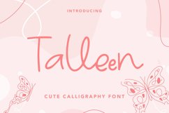 Talleen - Cute Calligraphy Font Product Image 1