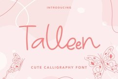Web Font Talleen - Cute Calligraphy Font Product Image 1