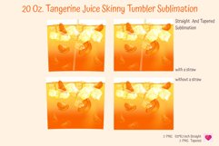 tangerine without a straw and with ice cubes realistic drinks skinny tumbler sublimation. summer tumbler sublimation