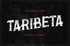 Web Font Taribeta Product Image 1