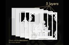 3D teacher shadow box layers preview
