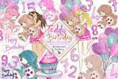 Teddy Birthday Clipart pack PNG   Drawberry CP078 Product Image 1