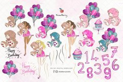 Teddy Birthday Clipart pack PNG   Drawberry CP078 Product Image 2
