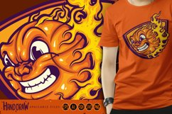 Mad Basketball On Fire SVG Illustrations Product Image 1