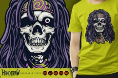 Psychedelic Skull Rasta Character SVG Illustrations Product Image 1