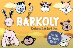 Barkoly cartoon slab font duo Product Image 1