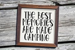 Web Font Tent Camping - A Quirky Handlettered Font Product Image 4
