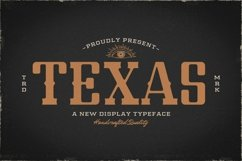 Web Font Texas Product Image 1