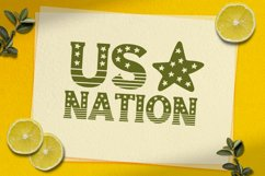 America - USA 4th of july Nation Day Classic Display font Product Image 4