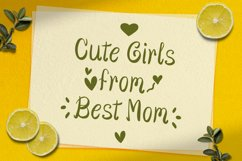 Cute Girls - Child font with doodle glyphs Product Image 6