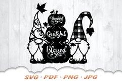 Fall Pumpkin Garden Gnome SVG Cut Files Product Image 3