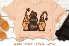 Fall Pumpkin Garden Gnome SVG Cut Files Product Image 6